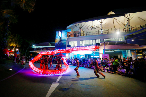 LED Dragon dance perfomance Sentosa