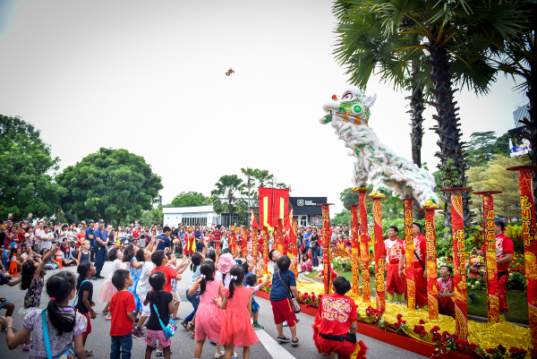 Lion Dance performance FUN-Tastic Fortune awaits you on Sentosa