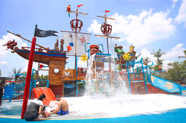 Palawan Pirate Ship Water play Sentosa