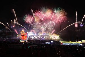 Fireworks Spectacular for River Hongbao 2020