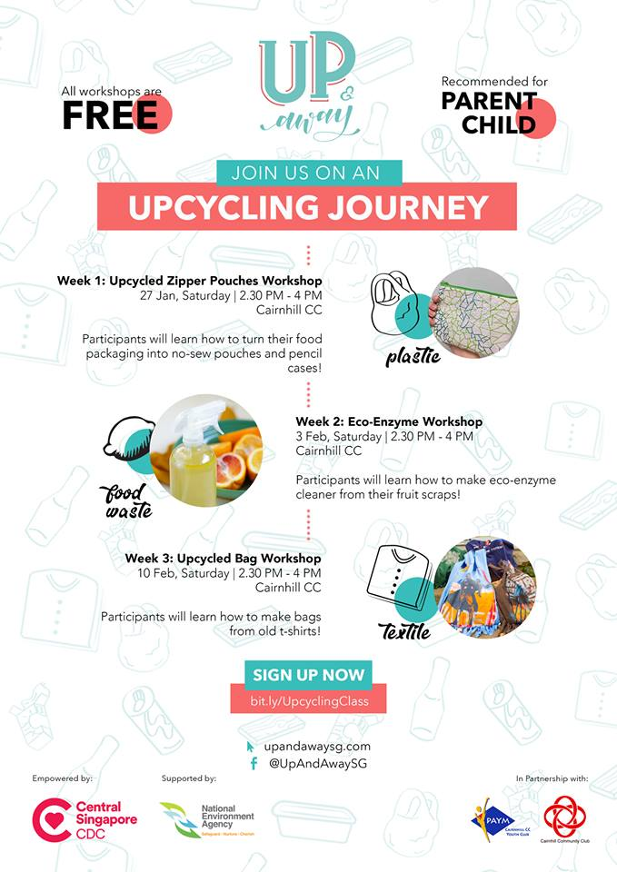Upcycling workshops for Parent and child by Up and Away