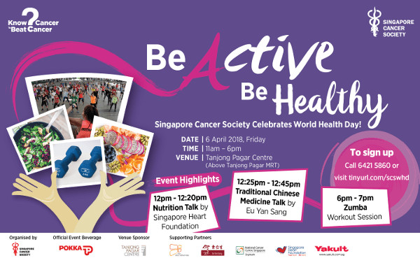 Be Active Be Healthy this World Health Day At Tanjong Pagar Centre