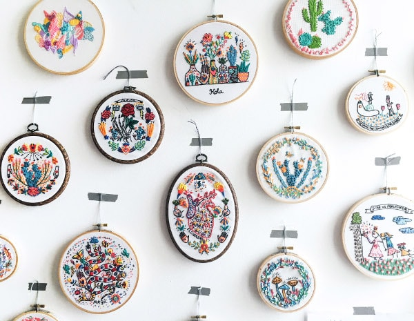 Embroidery and Colouring workshop by Inez Designs