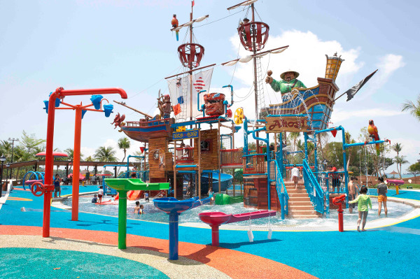 Sentosa Water play for kids Palawan Pirate Ship