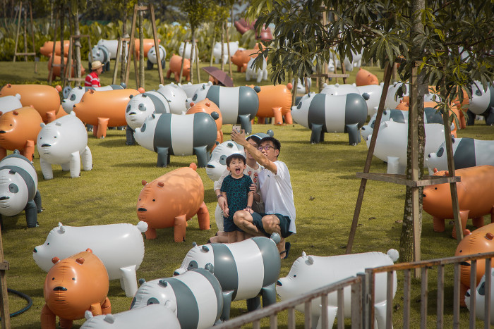We Bare Bears at Sentosa Palawan Beach