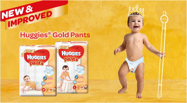 huggies gold pants new
