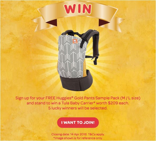 huggies goldpants win tula baby carrier