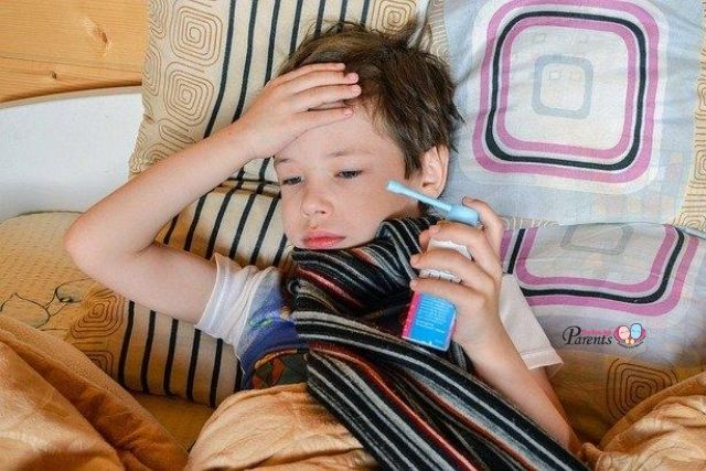 child taking medication asthma