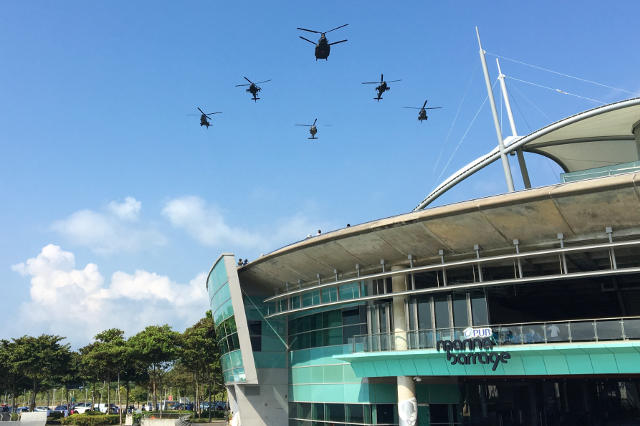 Helicopter Aerial Display RSAF50