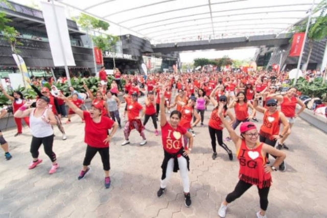 Sports Hub Workout Lah national day ndp