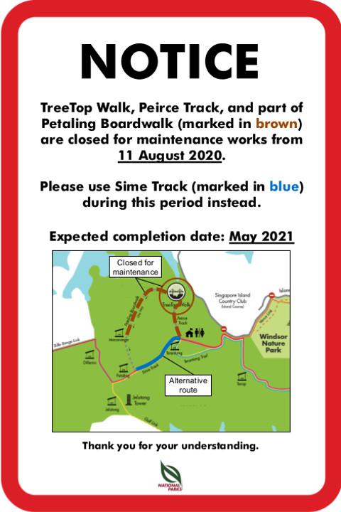 TreeTop Walk Closure Notice