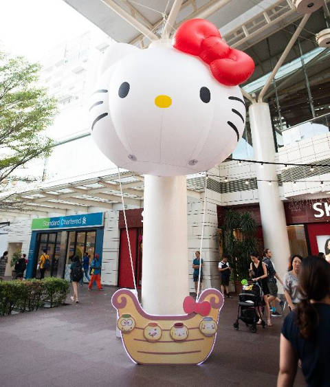 hello kitty at jurong point mid autumn