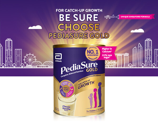 Introducing PediaSure Gold with Unique Singapore Formula