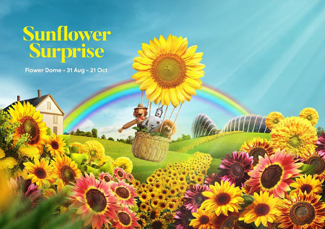 sunfower surprise gardens by the bay