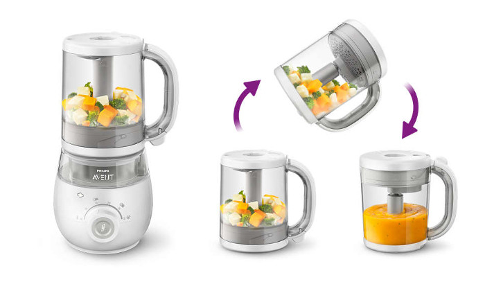 Make nutritious baby meals Philips 4-in-1 Healthy Baby Food Maker