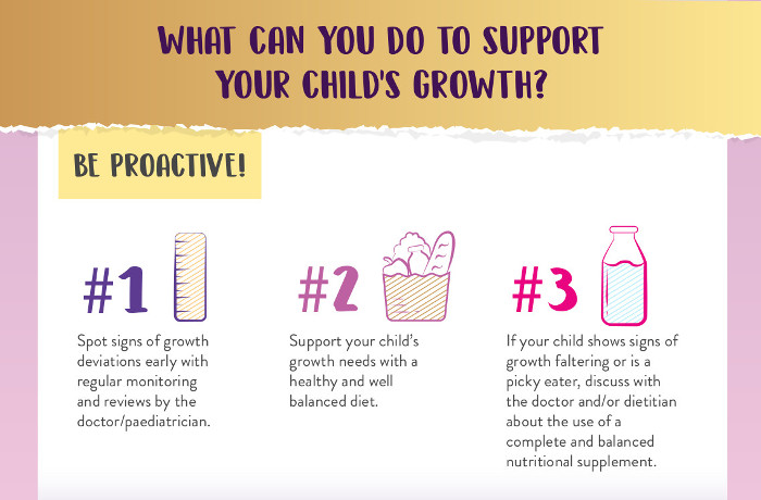 What to do to help child grow well