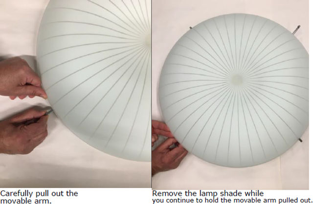 ikea CALYPSO ceiling lamp removal
