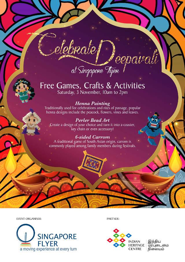 Celebrate Deepavali at Singapore Flyer