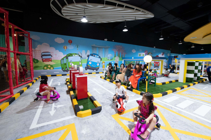 Singapore indoor playground Tayo Station road circuit