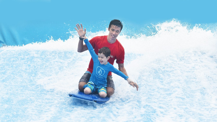 Windsurfing for kids Singapore Sentosa Wavehouse