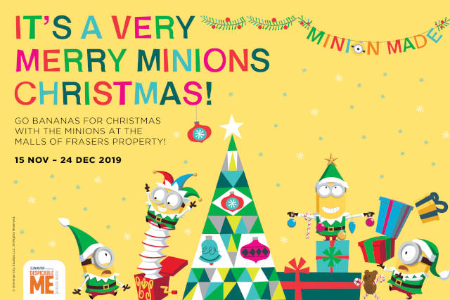 Minion Christmas malls of frasers property