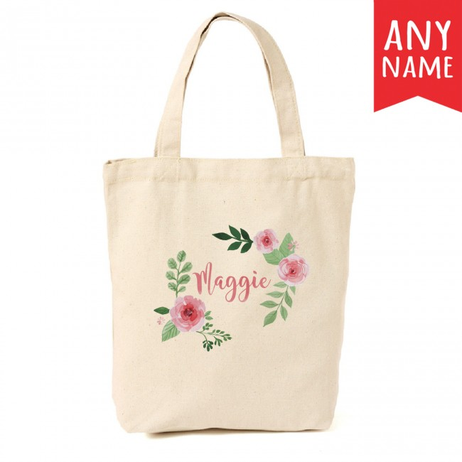 Personalised canvas tote bag from Canvas Avenue