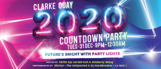 clarke quay 2020 countdown party