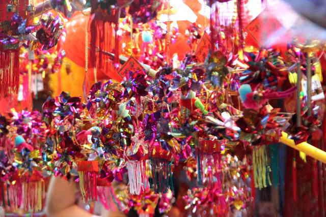 Chinatown street bazaar chinese new year