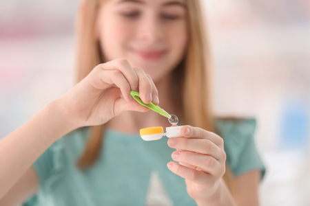 Contact lens care for kids