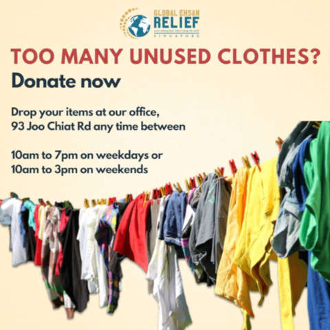 Where to donate used clothes singapore