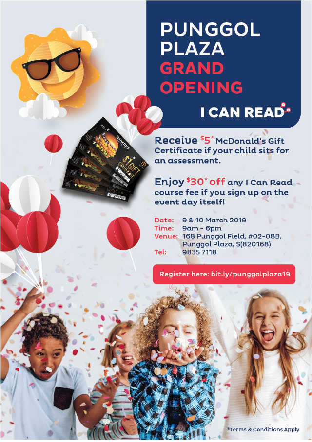 I Can Read Punggol Plaza Grand Opening