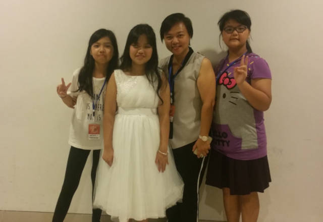 Adelyn Koh and family