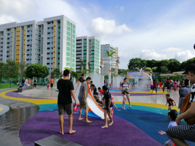 Outdoor playground North Singapore Oasis Waterpark