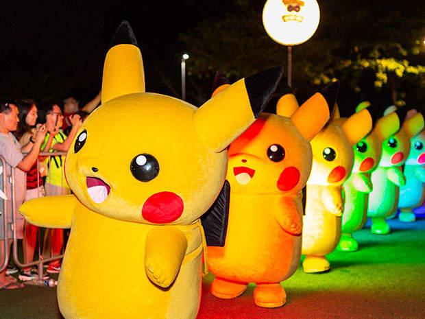 Pikachu Parades At Sentosa Cove Village