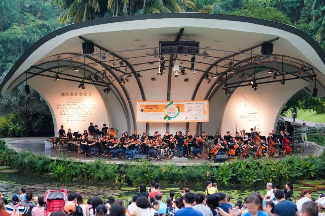 concert at music day out singapore botanic gardens