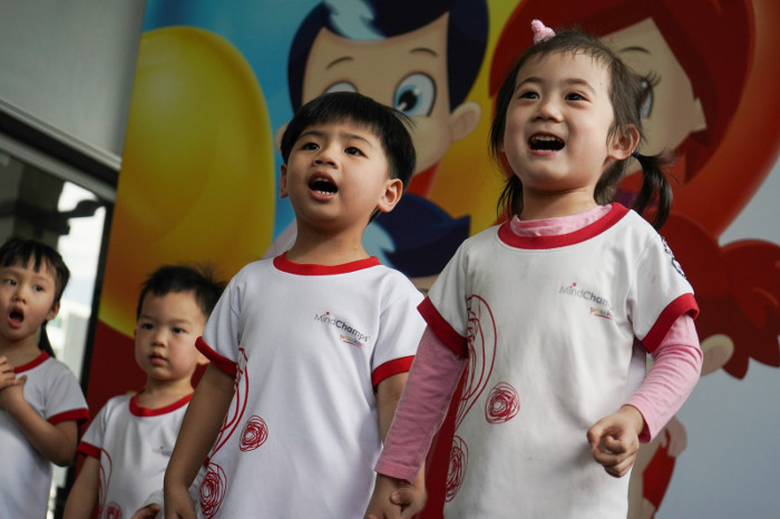 Preschoolers Give Back, Sparking Joy In The Elderly MindChamps Chinese PreSchool