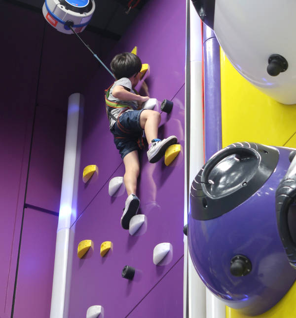 SuperPark Singapore Indoor Playground Rock Climb