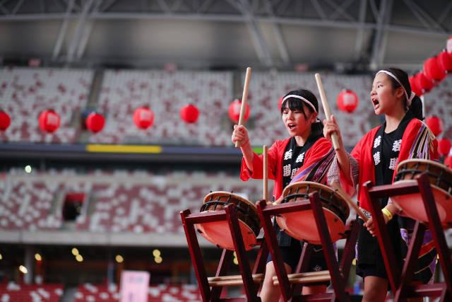 Natsu Matsuri jsf stage performance national stadium