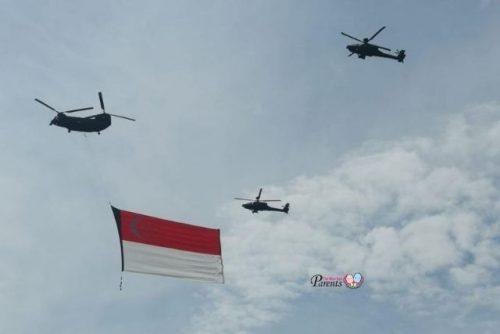 singapore flag national day flypast