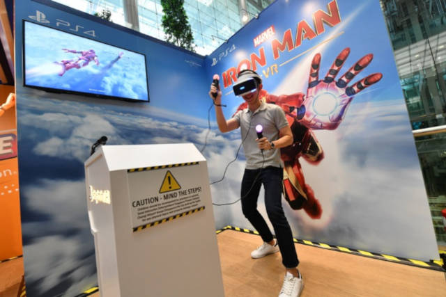 Iron Man VR Game at Changi Airport