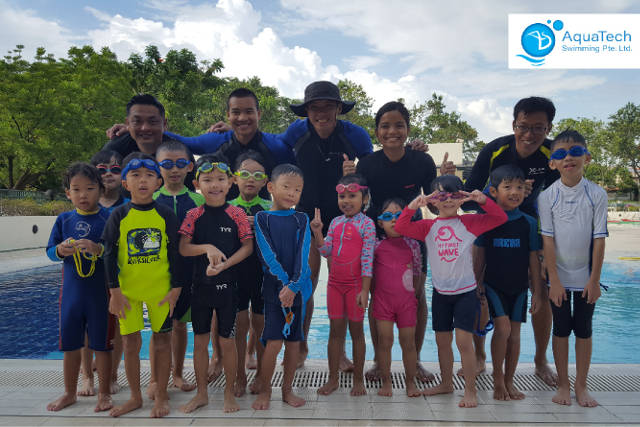 aquatech swimming lessons for kids singapore
