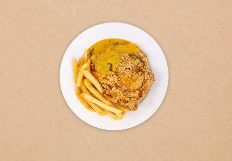 Breaded Chicken Cutlet with Salted Egg Sauce at IKEA