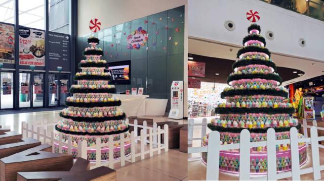 Christmas Cupcake Tree Kallang Wave Mall