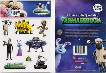 Shaun The Sheep Movie Farmageddon A5 sticker set