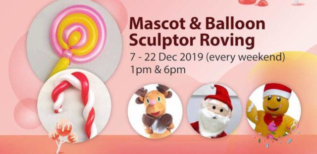 mascot and balloon sculpture roving kallang wave mall 2019