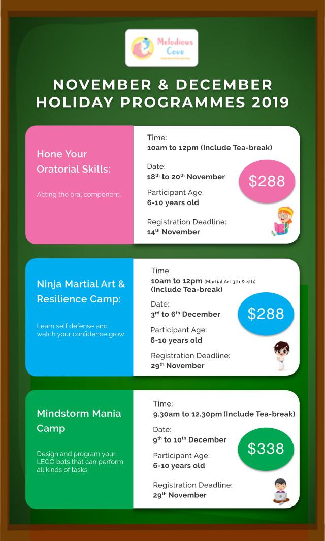 melodious cove november holiday program