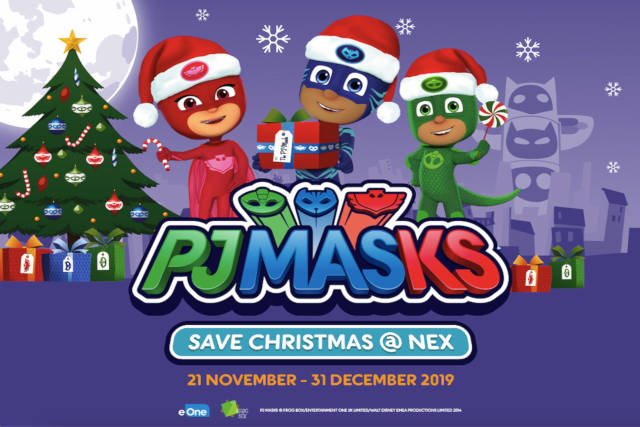 pj masks at nex shopping year end