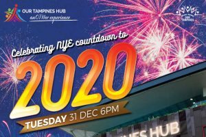Our Tampines Hub Countdown New Year 2020 with Festivities and Firework