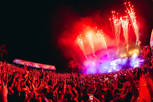 Siloso Beach Party Countdown Fireworks