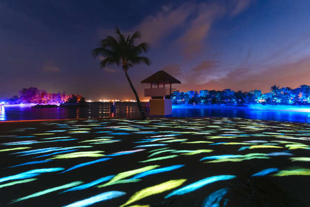 Magical Shores at Siloso Beach Sentosa – Singapore's First Beach Light Art Attraction